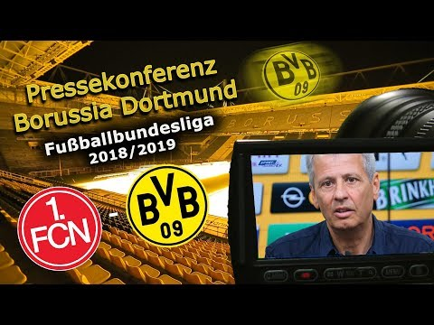 1. FC Nürnberg - Borussia Dortmund: Pk mit Lucien Favre und Michael Zorc