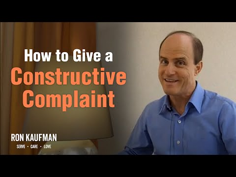 How to Make a Constructive Complaint