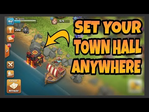 Set Your TOWN HALL Anywhere - Clash of Clans Latest Trick
