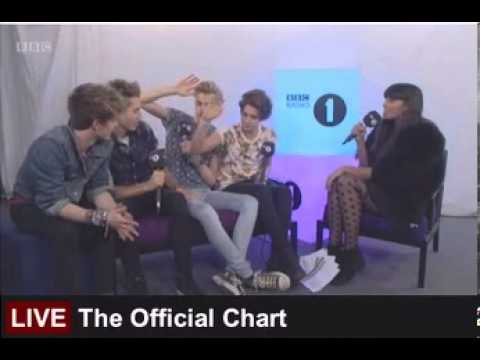 The Vamps - Entrevista en la BBC Radio One ( Chart Singles)