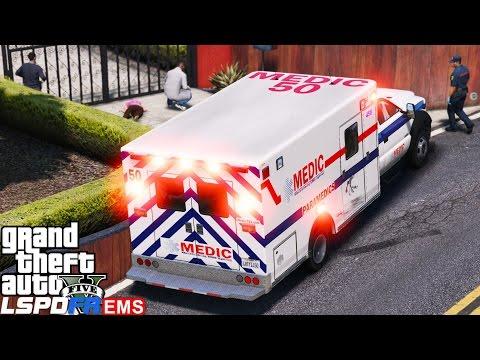 GTA 5 LSPDFR EMS Mod #6 | Playing As A Paramedic Mod | Mecklenburg | Dead On Arrival | CSI On Scene