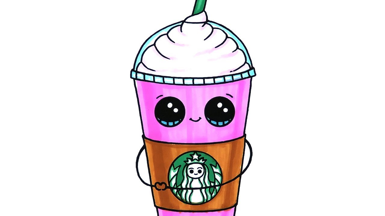 Starbucks Frappuccino Coloring Page