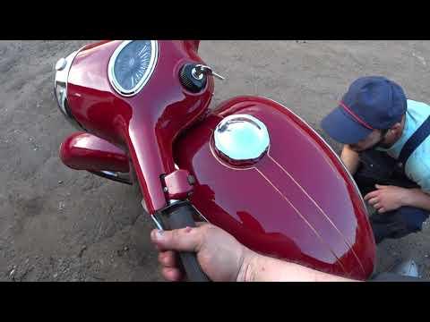 Мотор Ява 638 и Ява старушка после реставрации