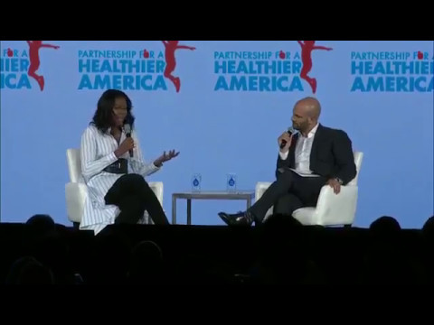 Michelle Obama delivers keynote remarks at the Partnership for a Healthier America 2017 Building