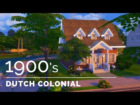 Sims 4  |  Decade Build Series  |  1900s Dutch Colonial Revival