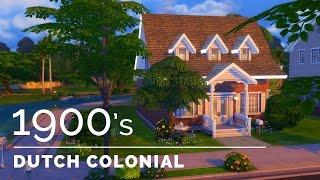 Sims 4     Decade Build Series     1900s Dutch Colonial Revival