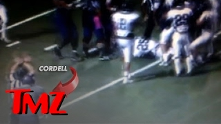Snoop Dogg's Son Cordell Broadus - Football Star SUSPENDED For Cheap Shot in HS Football Brawl