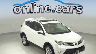 A10080YT Used 2013 Toyota RAV4 Limited AWD SUV White Test Drive, Review, For Sale