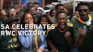 South Africans are celebrating the Springboks World Cup victory after Siya Kolisi led his side to a 32-12 win over England in the final at the Yokohama International Stadium.