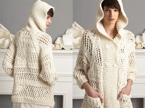 Knitting Patterns Summer Jackets : #7 Hooded Jacket, Vogue Knitting Spring/Summer 2011 - YouTube