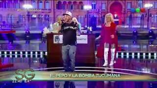 El Pepo y La Bomba Tucumana cantan juntos - Susana Giménez 2017