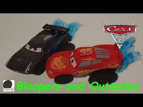 Beanbean Toys review Cars 3 Beach Blast Playset with Jackson Storm Bloopers