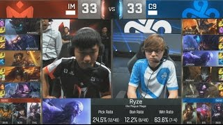 [GG] IM (AmazingJ Maokai) VS C9 (Jensen Ryze) Highlights - S6 World Championship Group Day 8