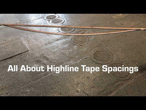 Slack Science - Highline Tape Spacing