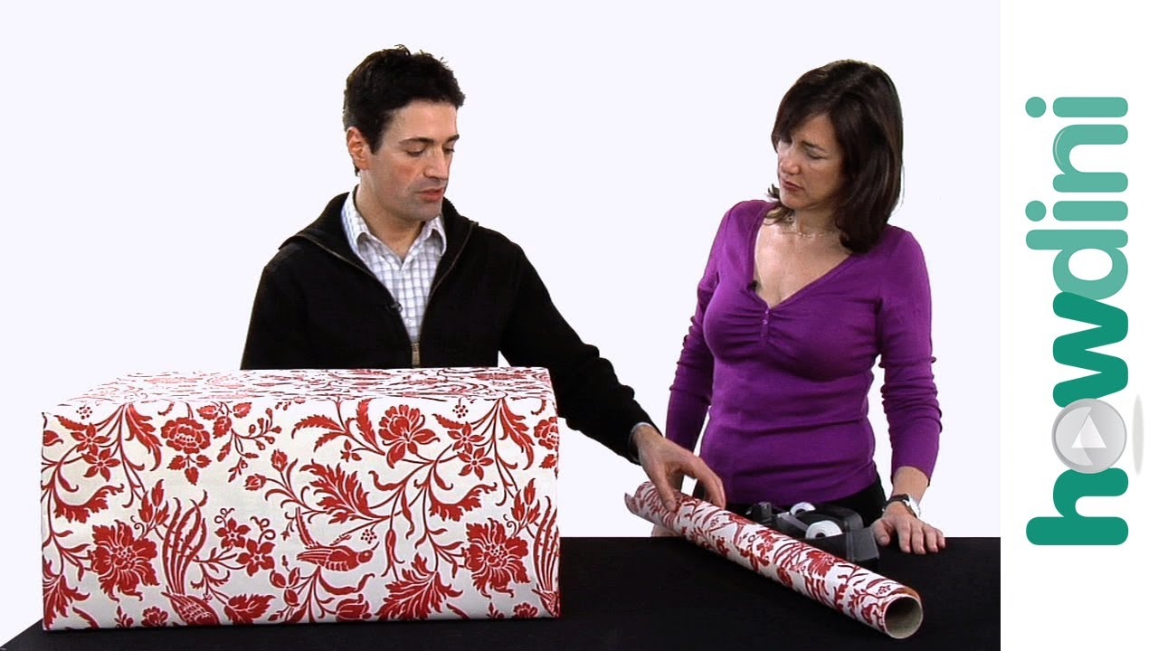 How To Gift Wrap A Large Gift Youtube