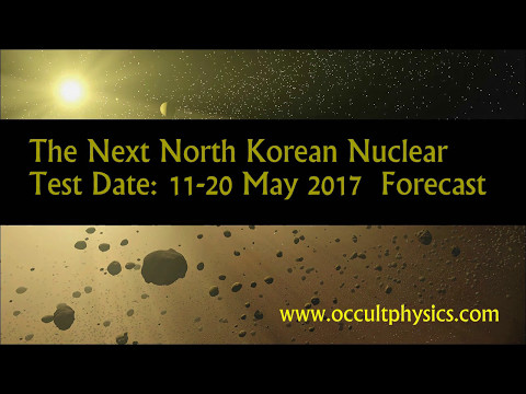North Korea - May 2017 Nuclear Weapons Test Forecast