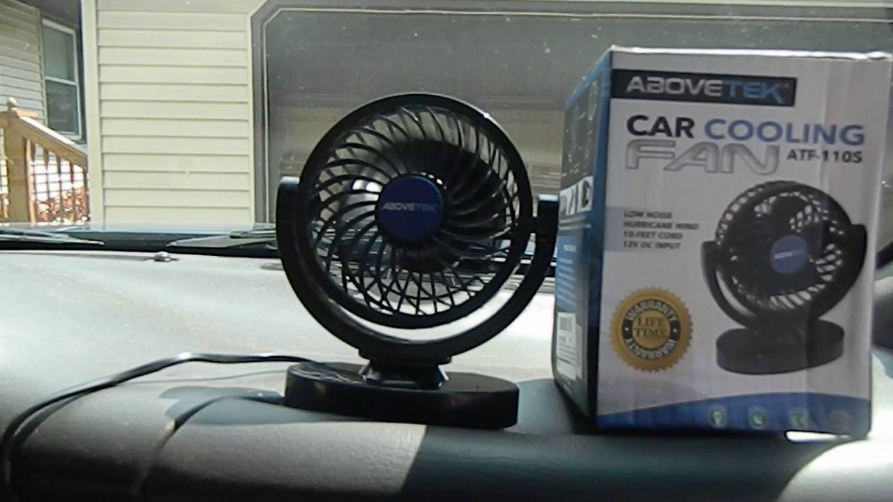 abovetek 12v dc car cooling fan youtube. Black Bedroom Furniture Sets. Home Design Ideas