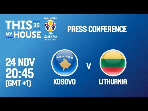 Kosovo v Lithuania - Press Conference - FIBA Basketball World Cup 2019 - European Qualifiers