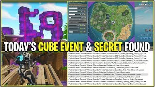 *NEW* Fortnite: TODAY'S CUBE EVENT & SECRET COORDINATES FOUND! *RIP Factories*