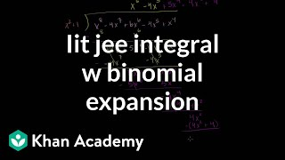 IIT JEE Integral with Binomial Expansion