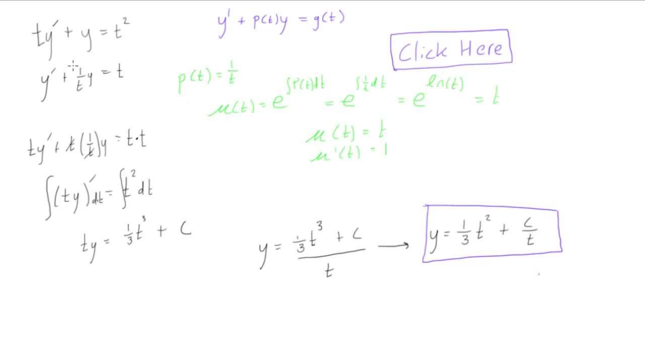 First Order Linear Differential Equation Example 1