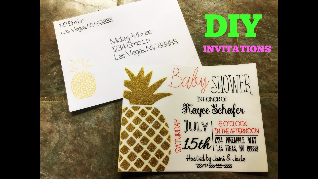 How to make invitations and label envelopes with Cricut Explore and
