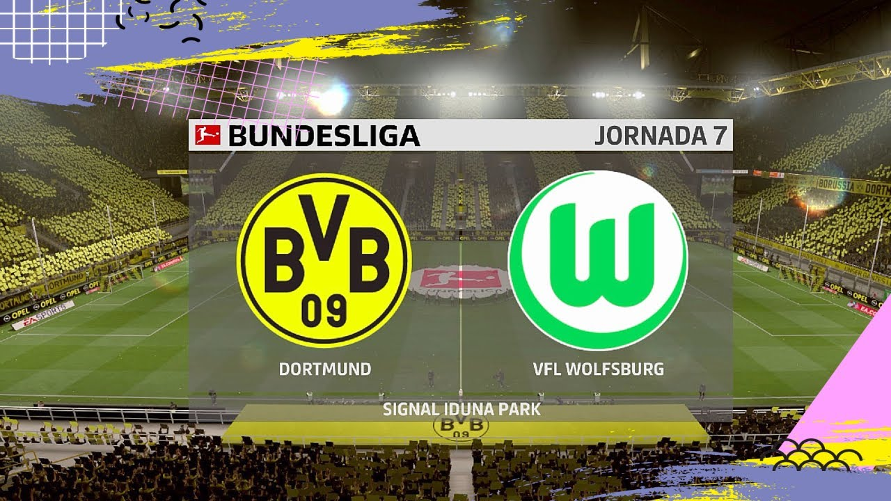 Download BORUSSIA DORTMUND VS WOLFSBURG BUNDESLIGA 2019/20 | FIFA 20 GAMEPLAY