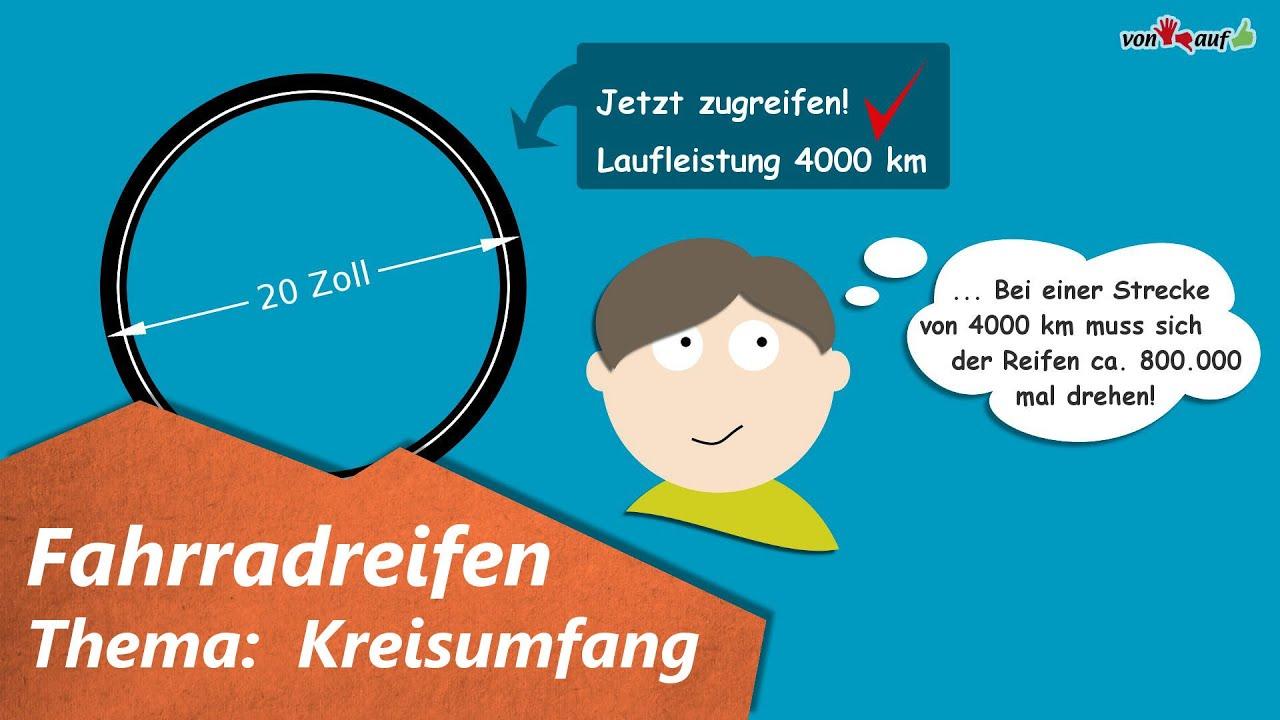 Animationsaufgabe Fahrradreifen - Kreisumfang - Klasse 8 - YouTube