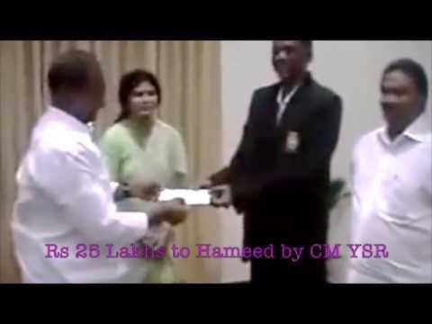 Shaik Abdul Hameed, Guntur, A.P. - C.M. - Y.S. Rajashekhar Reddy.