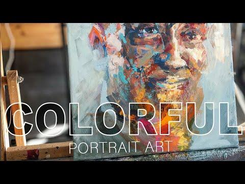 Paint a COLORFUL acrylic PORTRAIT