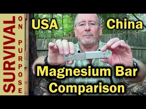 Firestarter Shootout- $12 Doan USA Magnesium Bar vs $3 Harbor Freight Chinese Version