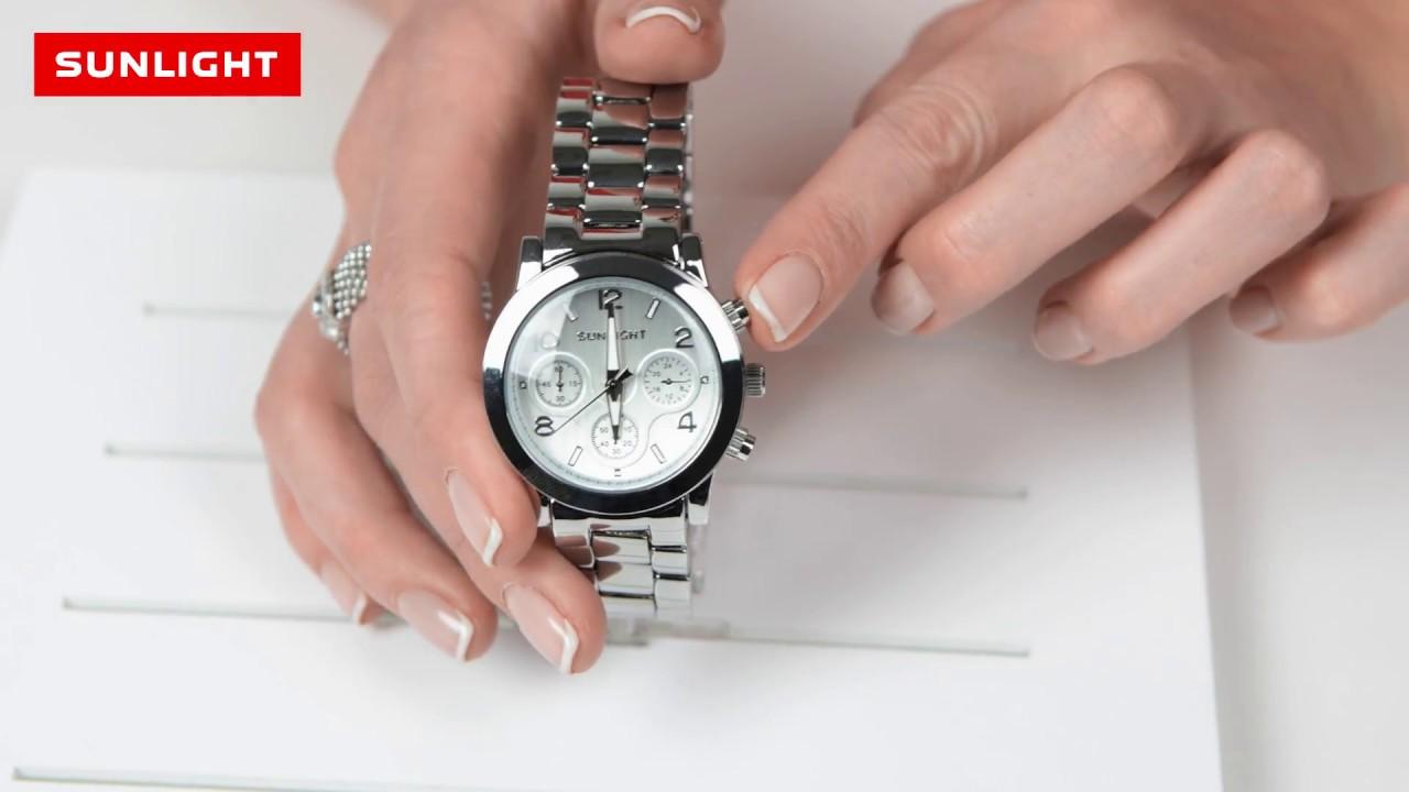 Как открыть наручные часы санлайт