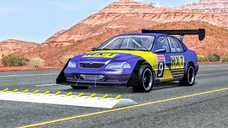Spike Strip High Speed Crashes #17 – BeamNG Drive