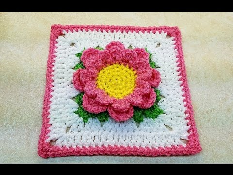 """easy-crochet-a-flower-granny-square-perfectly-pink-6""""-