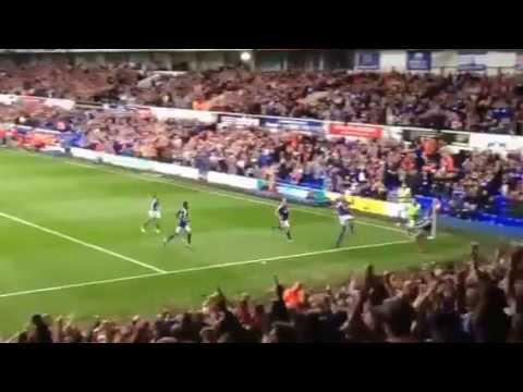 David McGoldrick: Ipswich Town free kick vs Blackburn Rovers
