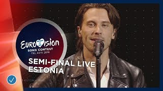 Estonia - LIVE - Victor Crone - Storm - First Semi-Final - Eurovision 2019