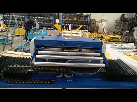 zigzag feeder machine for sheet metal hole punching for circle blanking