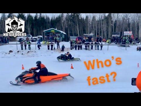 Fredericton NB Snowmobile Races 2020 !!!