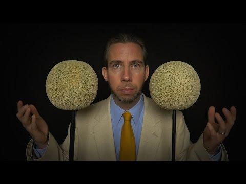 Binaural Cantaloupe Microphones [ FruiTech ASMR ]