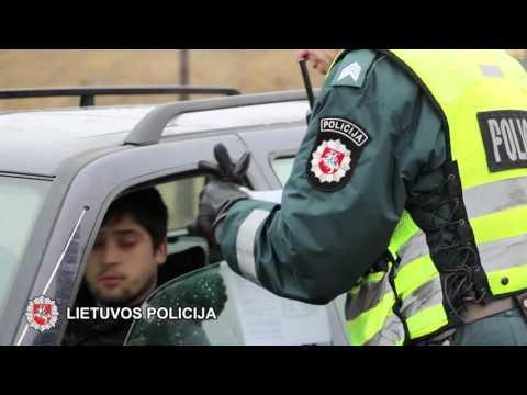 Šiaulių policijos reide - vairuotojų blaivumo patikrinimas