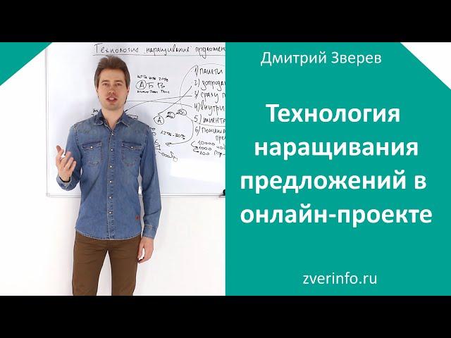 Технология наращивания предложений в онлайн-проекте