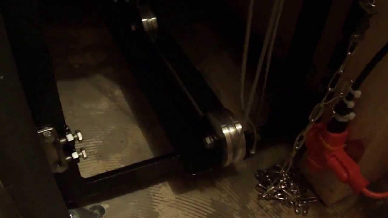 Monte charge pour bois de chauffage (vu du sous sol) YouTube # Chauffage Granulés De Bois