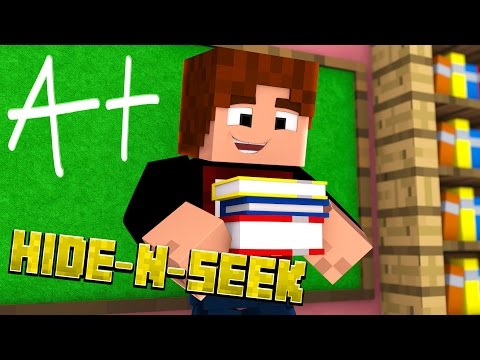Minecraft School - HIDE N SEEK #2 (Roleplay Minigame)
