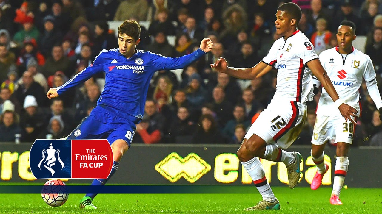 medium resolution of mk dons 1 5 chelsea emirates fa cup 2015 16 r4 goals highlights youtube