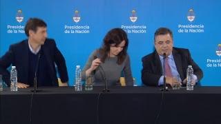 Conferencia de prensa desde el CCK