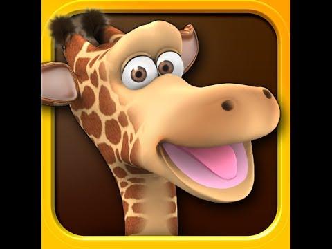 Говорящий жираф Джина! Серия 7! Забавная игра! Talking Gina! Прикол с жирафом! Мультик для детей!