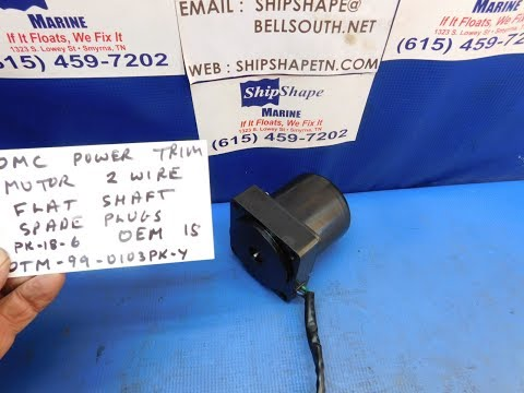 FOR SALE - OMC Outboard Power Trim Motor 2 wire spade plug OEM $99.95 PK-18-6