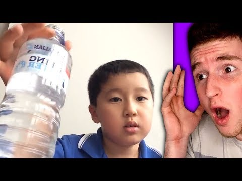 Kid can drink this water bottle in 1 second!