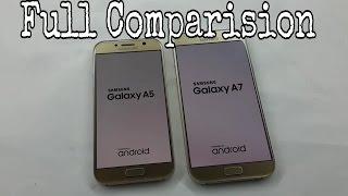 Samsung Galaxy A5 2017 Vs A7 2017 Full Comparison