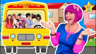 Wheels On The Bus Song | Daddy Finger Family | Bus Go Round and Round Song | Debbie Doo